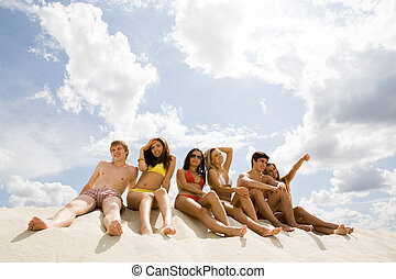 Vacation - Image of young people relaxing during vacation