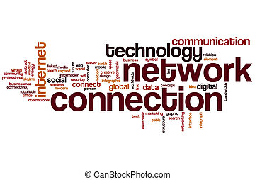 Network connection word cloud