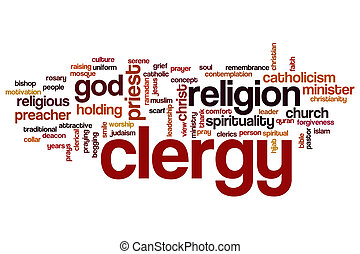 Clergy word cloud concept