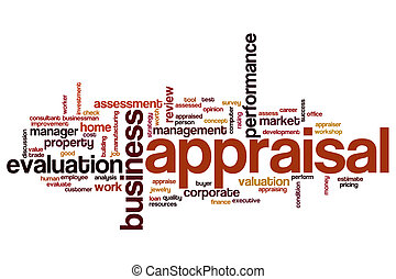 Appraisal word cloud concept
