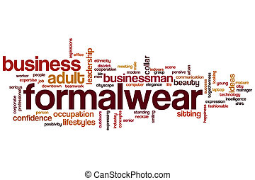 Formalwear word cloud concept