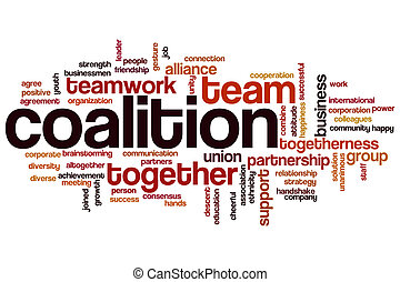 Coalition word cloud concept