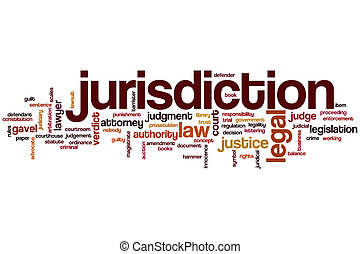 Jurisdiction word cloud concept