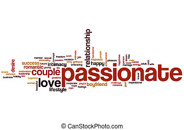 Passionate word cloud concept