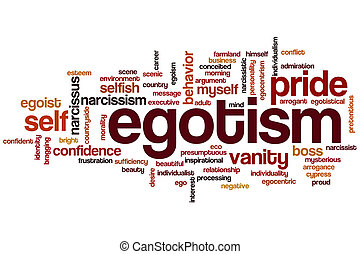 Egotism word cloud concept