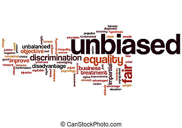 Unbiased word cloud concept