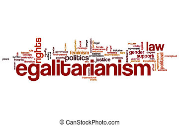 Egalitarianism word cloud concept