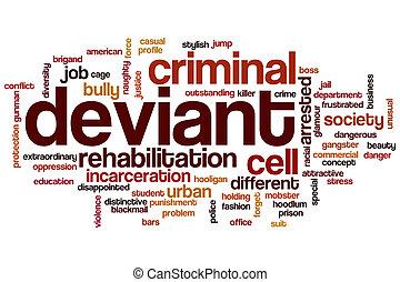 Deviant word cloud concept