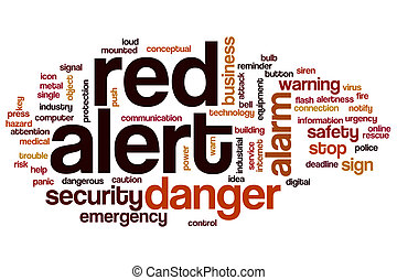 Red alert word cloud