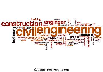 Civil engineering word cloud concept