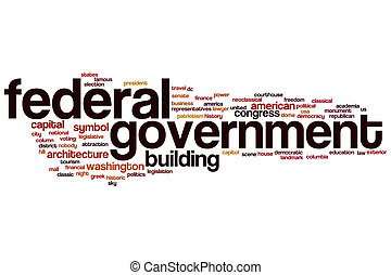 Federal government word cloud concept