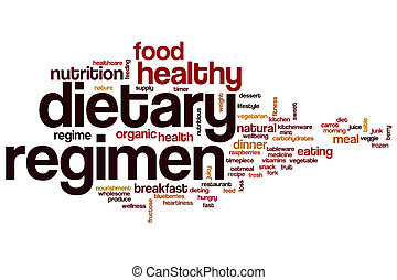 Dietary regimen word cloud concept
