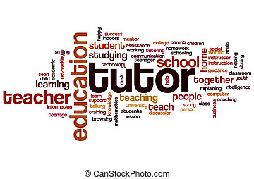 Tutor word cloud concept