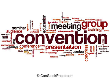 Convention word cloud concept