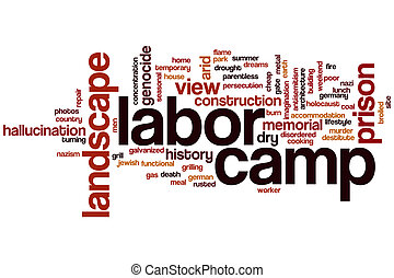 Labor camp word cloud concept