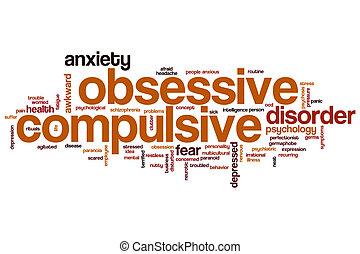 Obsessive compulsive word cloud concept