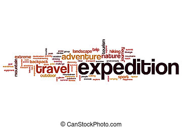 Expedition word cloud concept