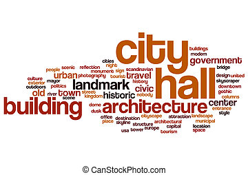City hall word cloud concept