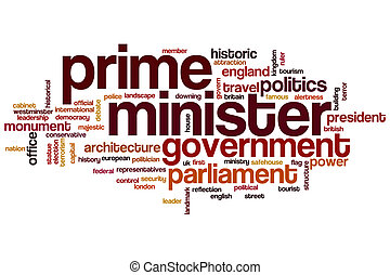 Prime minister word cloud concept