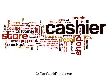 Cashier word cloud concept