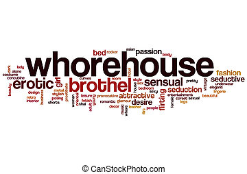 Whorehouse word cloud concept