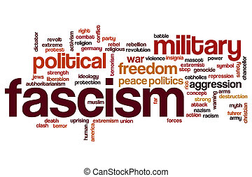 Fascism word cloud concept