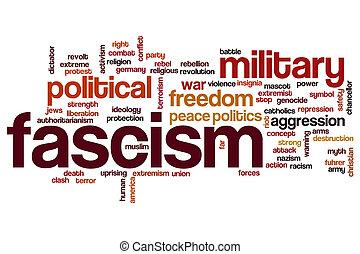 Fascism word cloud concept