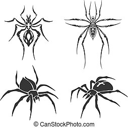 Tattoo skethes of spiders