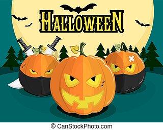 halloween pumpkin ninja