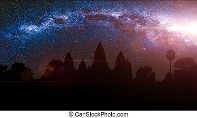 Angkor Wat, Siem Reap, Cambodia. 4k, 25fps