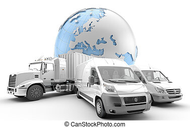 International freight. - Metaphor of the transport industry...