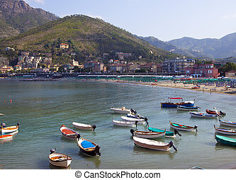 italian harbour in the summer