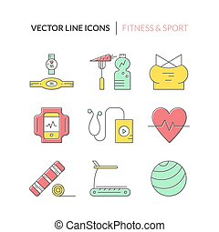 Fitness Icons - Collection of fitness icons made in vector....