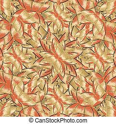 Geometric Bold Intricate Seamless Pattern - Digital cubism...