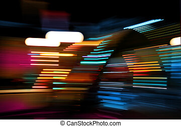 Color lights moving