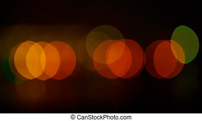 Beautiful night bokeh. Colorful abstract bokeh on a dark...