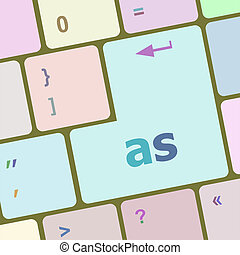 as button on computer keyboard key