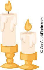 Aroma candle vector illustration - Aroma candle isolated...
