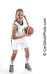 Attractive female basketball player - Attractive female...