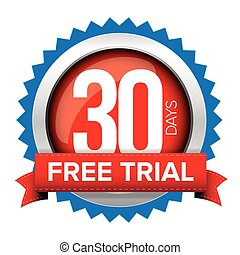 Thirty days free trial badge