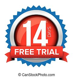 Fourteen days free trial badge