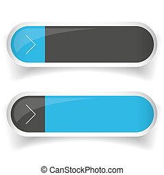 Empty Web Button set vector
