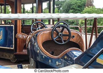 Carousel figure closeup airplane - Fair amusement carousel...