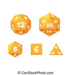 Game dice set. - Vector icon set of dice for fantasy RPG...