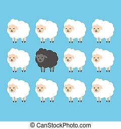 Black sheep illustration