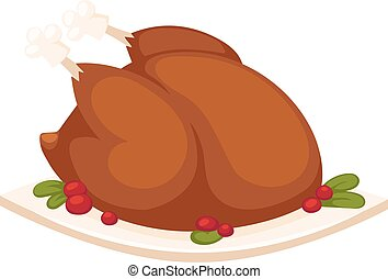 Fried chicken vector illustration. - Golden brown fried...