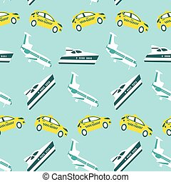 Seamless pattern with transport concept
