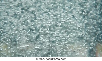 Water Bubbles Rising Up and Exploding - Water bubbles rising...
