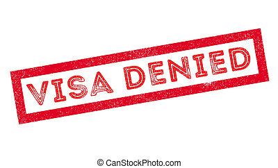 Visa Denied rubber stamp