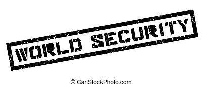 World Security rubber stamp on white. Print, impress,...
